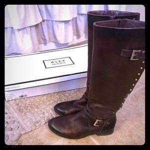 Beautiful cognac leather Alex Marie boots w/ box